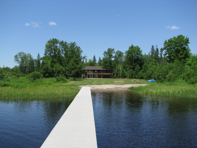 Buck Lake Cottage Rental #3-1 ~  Cottage Exterior View from Dock