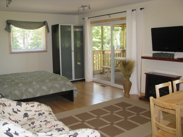 Buck Lake Cottage Rental #3-12 ~  Additional sleeping /living area with Queen bed and double Futon