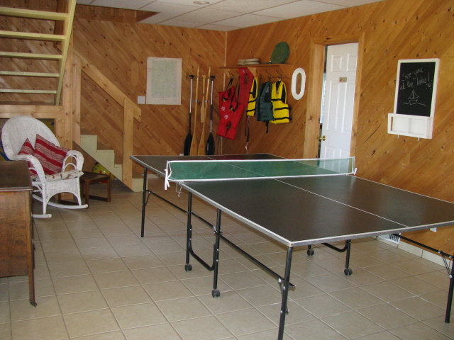 Buck Lake Cottage Rental #3-22~ Ping Pong Table Downstairs