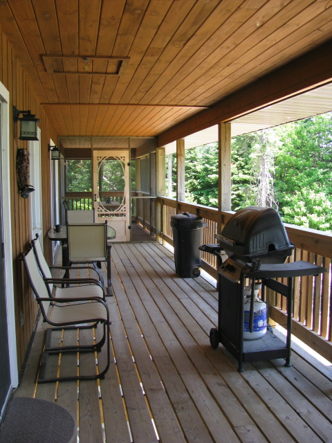 Buck Lake Cottage Rental #3-26~ Covered Verandah