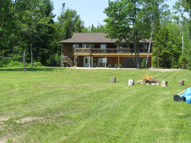 Buck Lake Cottage Rental #3-4 ~  Cottage Exterior /Fire Pit