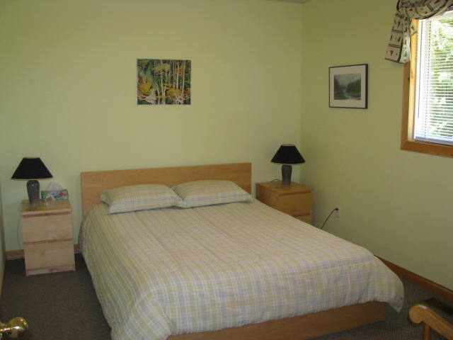 Buck Lake Cottage Rental #3-8 ~ Bedroom upstairs with Queen Bed