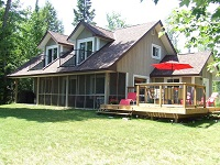 Buck Lake Cottage Rental #7-1 ~ View of Cottage from the Beach